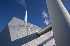 Power plant water silos stock photos