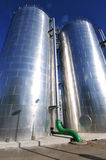Power plant water storage tanks royalty free stock images