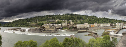 Power Plant at Willamette Falls Lock Royalty Free Stock Image