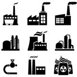 Power plants, factories and industrial buildings Royalty Free Stock Image
