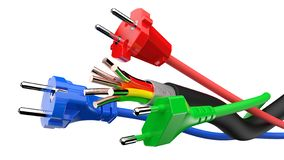 Power plug with cable stock images