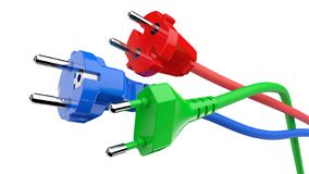 Power plug with cable stock photos