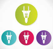 Power plug - cord icon Royalty Free Stock Photography