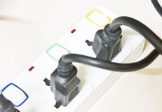 Power plug, Power bar Stock Photos