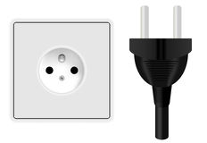 Power Plug and Socket Royalty Free Stock Images