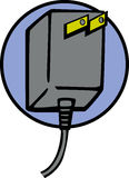 Power plug vector illustration Stock Images