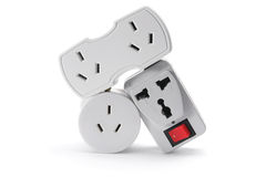 Power Plugs Stock Photo