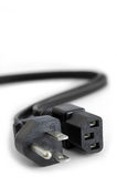 Power Plugs. Close up on power cord extension cable Royalty Free Stock Photo