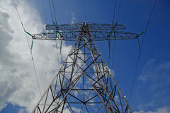Power pole. From low angle Stock Images