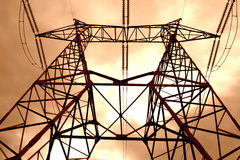 Power pole. Industrial structure. Pole of electricity Stock Photo