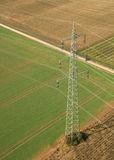 Power Pole from above royalty free stock image