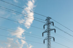 Power pole. Royalty Free Stock Image