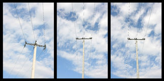 Power pole collage royalty free stock photo
