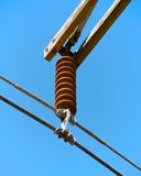 Power Pole Insulator Royalty Free Stock Images