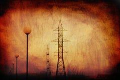 Power pole retro Stock Photo