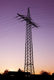 Power pole silhouette Stock Image