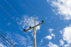 Power pole on the sky Royalty Free Stock Image
