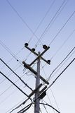 Power Pole and Wires Stock Photography