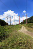 Power poles Royalty Free Stock Image