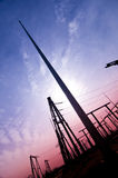 Power poles Royalty Free Stock Photography
