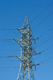 Power poles. On blue sky background Royalty Free Stock Images