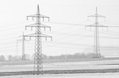Power poles Royalty Free Stock Photos