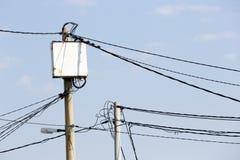 Power poles in Bulgaria Royalty Free Stock Photos