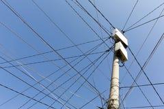 Power poles in Bulgaria Royalty Free Stock Image