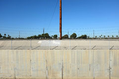 Power Poles and Concrete Royalty Free Stock Images
