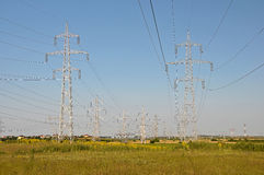 Power poles Stock Image