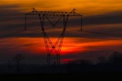Power poles Stock Photos