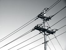 Power poles and power lines royalty free stock image