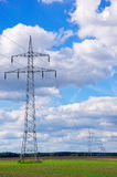 Power Poles And Transmission Lines Stock Images