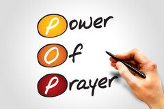 Power Of Prayer. (POP), concept acronym Royalty Free Stock Images