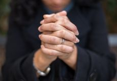 Power of Prayer in the Prayer Garden royalty free stock images