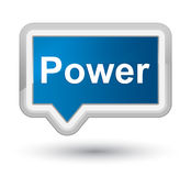 Power prime blue banner button. Power isolated on prime blue banner button abstract illustration Stock Images