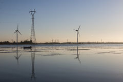 Power production and distribution at the Limfjord, Aalborg Stock Photos