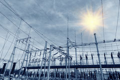 Power production facilities Stock Photo