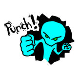 Power punch Stock Image
