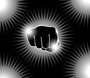 Power Punch. Vector illustration of a power punch hand Royalty Free Stock Photos