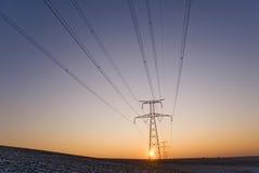 Power pylon Stock Photo