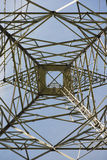 Power Pylon and blue sky Royalty Free Stock Images
