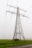 Power pylon mist Royalty Free Stock Images