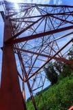 Power pylon, tilted horizon Stock Photography