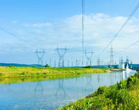Power pylons Stock Photo
