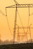 Power pylons Royalty Free Stock Images