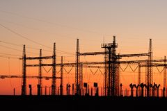 Power pylons Stock Photos