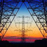 Power pylons Royalty Free Stock Image