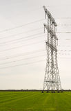 Power pylons in an agricultural area Stock Image