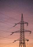 Power pylons royalty free stock photography